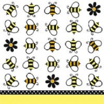 buzz-bumblebee-beverage-napkin-t6824