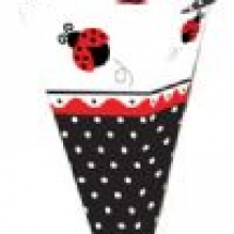 ladybug-fancy-cone-shape-favour-bag-t5191