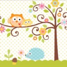 happi-tree-luncheon-napkin-t8097