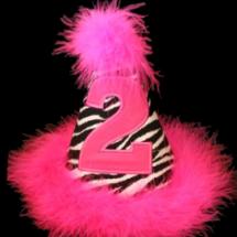 pinkzebrapartyhat